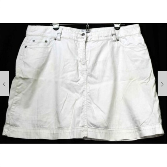croft & barrow Pants - Croft & Barrow White Skorts Women Sz 18 White Stri